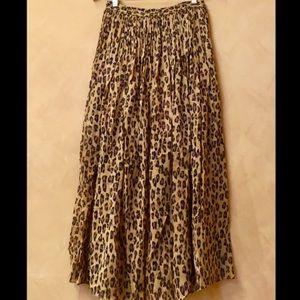 Free people cheetah skirt size M NWT